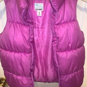 Children's Purple Puffer Vest